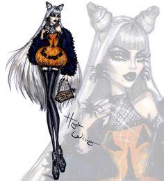 Hayden Williams Fashion Illustrations  'Pumpkin Perfection' by Hayden Williams