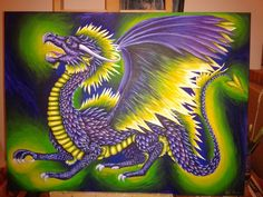 acrylic painting by dianadragon
