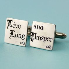 Star Trek Cuff Links  Live Long and Prosper  by SpiffingJewelry