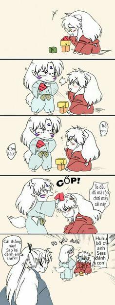 Poor Inu :'))) Inuyasha Funny, Inuyasha Fan Art, Inuyasha Love, Otaku Anime, Manga Anime, Inuyasha And Sesshomaru, D Gray Man, Another Anime, Asuna