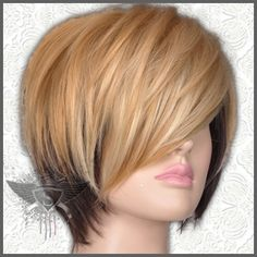 GW347 Blonde Brown Short Straight Vogue Spike Punk Rock Lady Full Wig Show | eBay