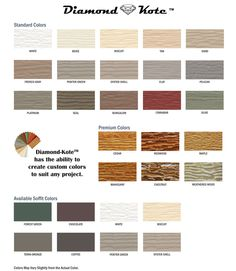 Lp smartside color palette for diamond kote pre finishing for Smartside colors