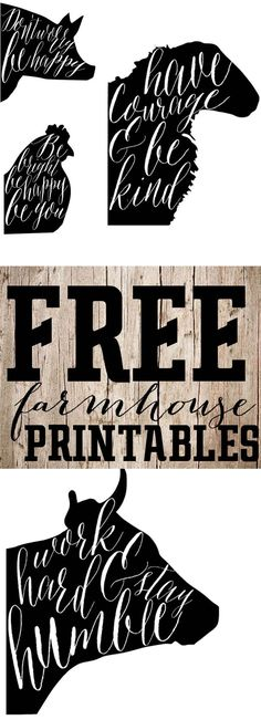 Free Printable Saturday-Farmhouse Animal Prints The Mountain View Cottage