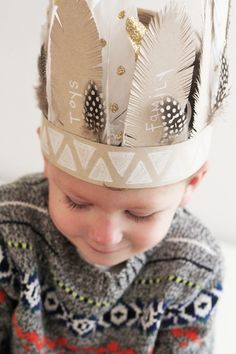 Thankful Feather Crowns | Originally for Thanksgiving but I wear a feather headdress, all year. indian, gypsy, wanderlust