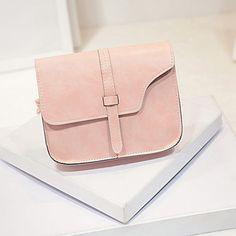 a4238f5dc63 Для женщин сумки Карамельный цвет PU кожа Сумка небольшой свежий сумка  клапаном Сумочка Bolsas Feminina  0511 купить на AliExpress
