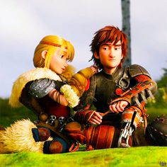 Hiccup hates the braids. XP