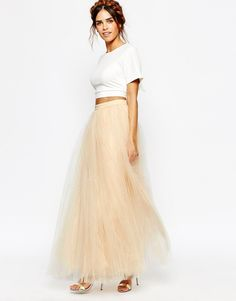 Image 1 ofLittle Mistress Maxi Tulle Skirt