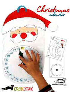Коледен календар - дядо Коледа