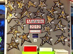 Mrs Blau read us the story of   'Matariki'   By Melanie Drewery.     This is the artwork we produced based on the story of Matariki,   T...