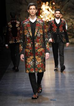 Dolce & Gabbana Man Runway Show – Fall Winter 2014 -  Man Collection Fashion Show. Runway of the Metropol Theatre in Milan.