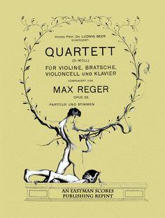 Reger, Max : Quartett d-moll fur Violine, Bratsche, Violoncell und Klavier. Op. 113