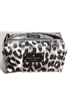 black & white leopard cosmetic case - kate spade