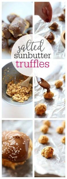 Salted SunButter Truffles - The Taylor House