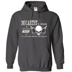 MCCARTHY RULE\S Team .Cheap Hoodie 39$ sales off 50% on - #gift for mom #couple gift. CLICK HERE => https://www.sunfrog.com/Valentines/MCCARTHY-RULES-Team-Cheap-Hoodie-39-sales-off-50-only-19-within-7-days.html?68278