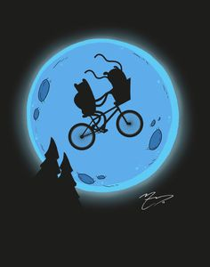 ET TIME! (E.T. and Adventure Time Crossover) 11x14 Print Etsy