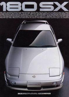 Classic Japanese Cars, Classic Cars, Retro Cars, Vintage Cars, Best Jdm Cars, Nissan 180sx, Datsun Car, Street Racing Cars, Car Brochure
