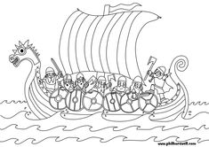 Viking Longship Colouring Pages Coloring Pages Vikings Viking