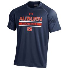 Under Armour College Tech T-Shirt - Men's - Basketball - Clothing - Auburn Tigers - Navy