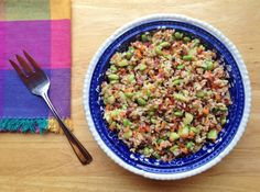 Brown Rice and Edamame with Lime Vinaigrette recipe -- Juggling With Julia