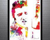 Elvis Presley 18x24 Art Print by PixArtsy on Etsy