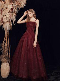 Burgundy Evening Dress, Formal Evening Dresses, Burgundy Dress, Short Summer Dresses, Cheap Prom Dresses, Long Dresses, Champagne Homecoming Dresses, Custom Dresses, Tulle