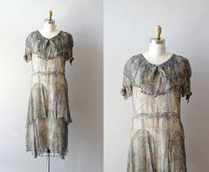 20s dress / 1920s dress / Illustré Feuille chiffon by DearGolden, $288.00
