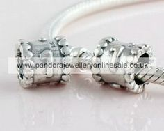 2012 Pandora Silver Number Gray Charm