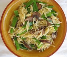 Snow Peas & Mushroom (S) Orzo — Savor The Thyme - Food, Family and Lifestyle