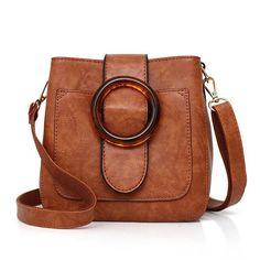 New Arrival High Quality 2017 Retro Women Handbag PU Leather Fashion Shoulder Bag Vintage Bucket bag Casual Women Tote Bag