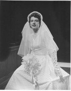 1951 vintage wedding photo, Pretty dress.