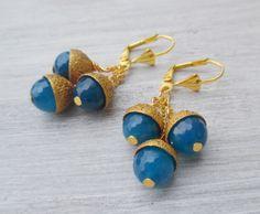 Ohrringe mit Eicheln Naturschmuck - ein Designerstück von Olemole bei DaWanda