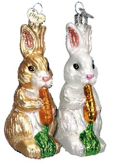 Merck Familys Old World Christmas Easter Glass Ornaments, Light Covers, Night Lights