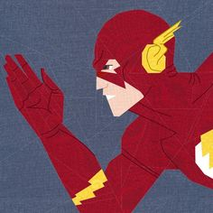 """Fandom In Stitches: Super Heroes.   The Flash. 15"""" by 15""""    Paper Pieced and Embroidered.   By Misha29.   A free paper pieced pattern from fandominstitches.com.   Free for personal and non-profit use only."""