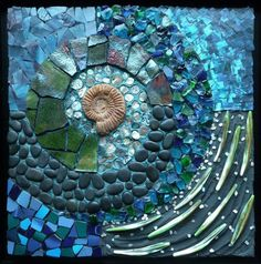Gartenkunst 2018 Education Series – Society of American Mosaic Artists, Mosaic Artwork, Mosaic Wall Art, Mosaic Glass, Mosaic Tiles, Stained Glass, Glass Art, Blue Mosaic, Mosaic Crafts, Mosaic Projects