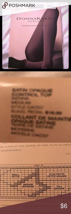 Donna Karan opaque Tights Control top, satin opaque legs Donna Karan Accessories Hosiery & Socks
