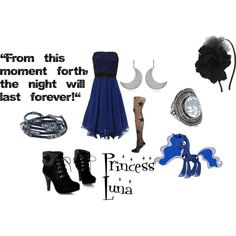 Cute.    Princess Luna, created by rachel363 on Polyvore.