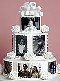 I like how photos were incorporated in the design. I can see this on my cake.