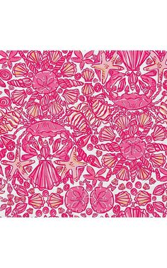 Lilly Pulitzer Fabric Hotty Pink Sailors by FabricLillyStyle