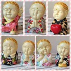 buda bebe en decoupage! Feng Shui, Garden Sculpture, Spiderman, Buddha, Oriental, Santa, Japan, Outdoor Decor, Color