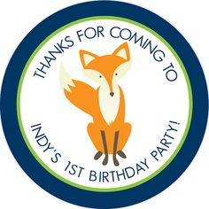 Fox Stickers - great for return address or party favors on Etsy, $6.00