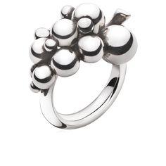 Georg Jensen MOONLIGHT GRAPES ring - sterling silver, small