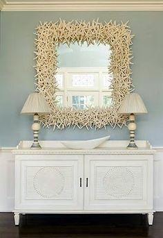 Art Seashell Mirror Beach Decor i-like-this