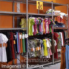 Estantería metálica textil con estantes + 2 colgador http://www.esmelux.com/estanter%C3%ADa-met%C3%A1lica-textil-2-estantes-2-colgador