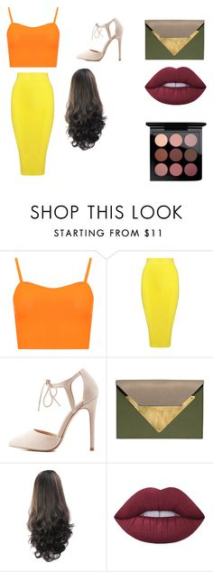 """""""Prom"""" by enakshihoran2012 ❤ liked on Polyvore featuring WearAll, Posh Girl, Charlotte Russe, Dareen Hakim, Lime Crime and MAC Cosmetics"""