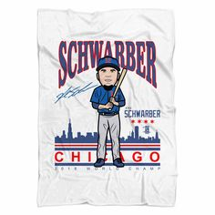 Your place to buy and sell all things handmade Kyle Schwarber, Chicago C, Soft Blankets, Custom Made, Trending Outfits, Stuff To Buy, Ben Zobrist, Tops, Birthday