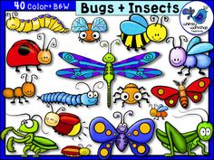This set is full of whimsical bugs and insects! Many come with multiple color choices, and all are high quality png files to create vibrant and crisp images in your creations! $ Whimsy Workshop Teaching