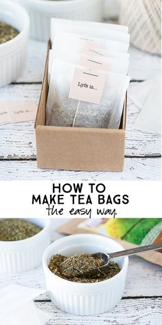 How to make tea bags