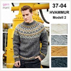 no - Spesialist på islandsk ull Icelandic Sweaters, Wool Sweaters, Fair Isle Knitting, Handicraft, Color Combinations, Men Sweater, Tweed, Pullover, Crochet