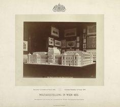 Maquette van de nieuwe universiteit van Wenen, getoond op de Wereldtentoonstelling van 1873 in Wenen, J. Löwy, 1873 - Rijksmuseum
