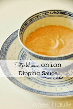 Outback Blooming Onion,Teaxas Roadhouse  Awesome Blossom dipping sauce recipe. Steakhouse Onion Dipping Sauce Tutorial- SWEET HAUTE Pin now...read later! Steakhouse Onion Dipping Sauce Tutorial {SWEET}